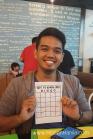 Lance's Bingo card.